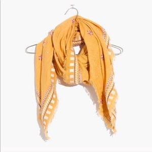 Madewell Primrose Embroidery scarf wrap